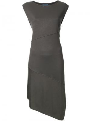 Асимметричное платье с разрезом сбоку Guild Prime. Цвет: зелёный