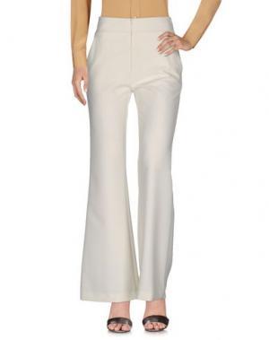 Повседневные брюки MUSANI COUTURE. Цвет: слоновая кость