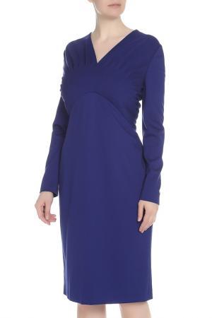 Повседневное платье с V-образным вырезом Escada. Цвет: фиолетовый