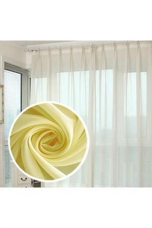 Тюль 600х290 см - 1 шт. Amore Mio. Цвет: желтый