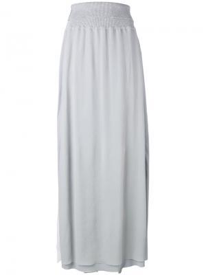 Длинная юбка прямого кроя Lorena Antoniazzi. Цвет: серый