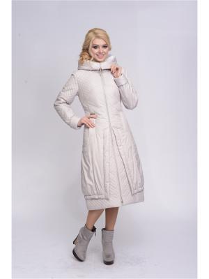 Пальто D`imma. Цвет: молочный