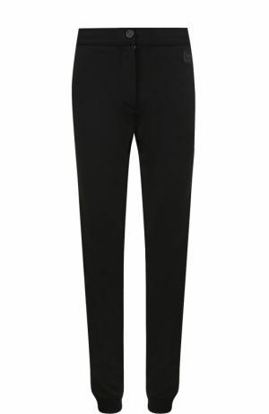 Шерстяные брюки с лампасами Z Zegna. Цвет: черный