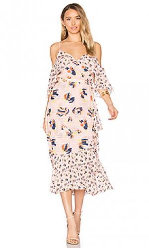 Платье amylia Tanya Taylor. Цвет: розовый