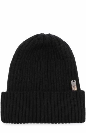 Кашемировая шапка фактурной вязки Cortigiani. Цвет: черный