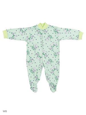 Комбинезоны Babycollection. Цвет: зеленый