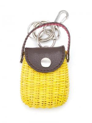 Соломенный брелок для ключей Serpui. Цвет: жёлтый и оранжевый