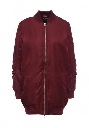 Куртка QED London. Цвет: бордовый