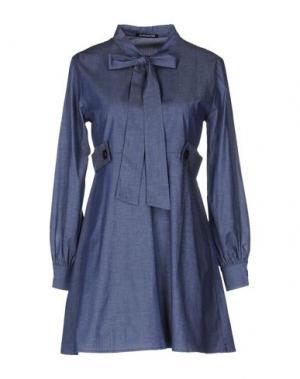 Короткое платье NINEMINUTES. Цвет: синий