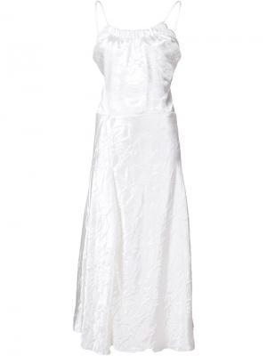 Платье на бретельках Victoria Beckham. Цвет: белый