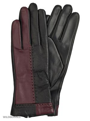 Перчатки женские с эффектом Touch Screen Marco Bonne`. Цвет: черный, темно-бордовый