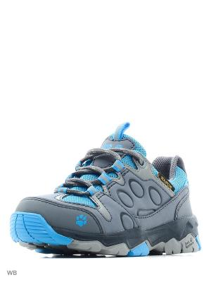 Ботинки MTN ATTACK 2 TEXAPORE LOW K Jack Wolfskin. Цвет: светло-голубой