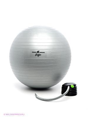 Мяч для фитнеса Mad Wave. Цвет: серый