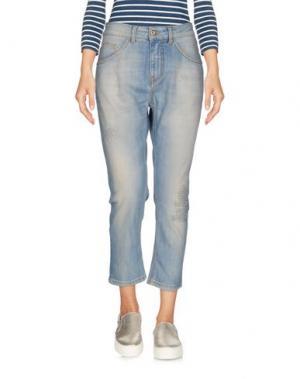 Джинсовые брюки-капри ATOS LOMBARDINI. Цвет: синий