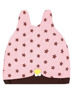 Шапка детская Ушки-star Оланж Ассорти. Цвет: розовый