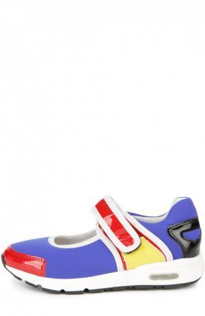 Кеды color block с кожаными вставками AM66. Цвет: разноцветный