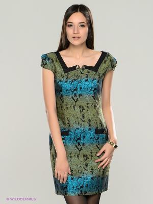 Платье TOPSANDTOPS. Цвет: бирюзовый, черный, зеленый
