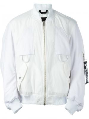 Куртка-бомбер Mechanic Liam Hodges. Цвет: белый
