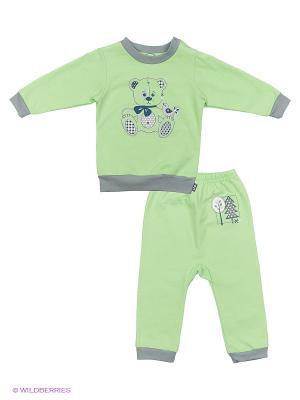 Комплекты одежды Лео. Цвет: салатовый, серый