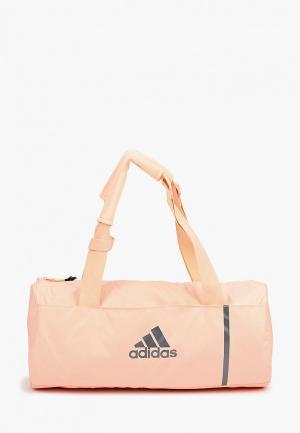 Сумка спортивная adidas. Цвет: розовый