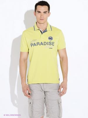 Футболка-поло LERROS. Цвет: желтый