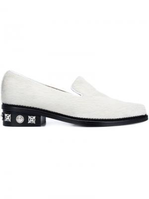 Лоферы с заостренным носком Toga. Цвет: белый