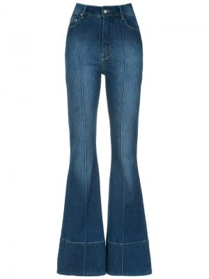 Denim flared trousers Amapô. Цвет: синий