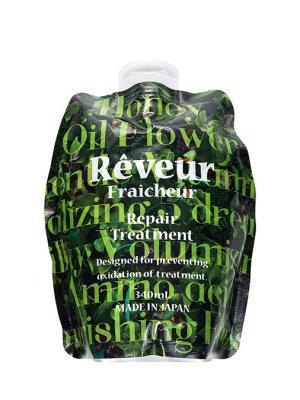 Reveur fraicheur  живой кондиционер для восстановления поврежденных волос 340 мл см блок. Цвет: зеленый