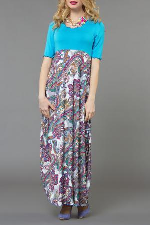 Платье Kata Binska. Цвет: бирюзовый, мульти