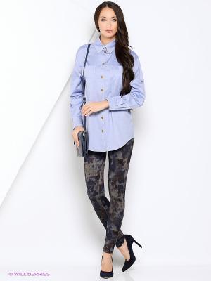 Рубашка RUXARA. Цвет: синий