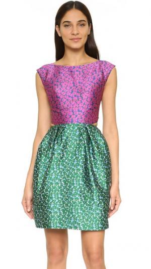 Платье без рукавов с открытой спиной Monique Lhuillier. Цвет: мульти