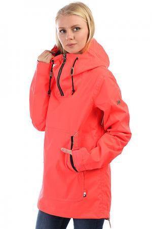 Анорак сноубордический женский DC Skyline Fiery Coral Shoes. Цвет: розовый