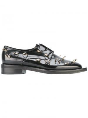Ботинки Дерби декорированные пирсингом Coliac. Цвет: чёрный