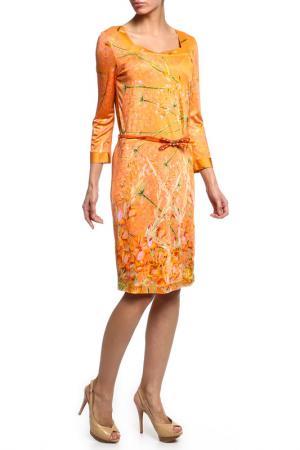 Платье CLASS ROBERTO CAVALLI. Цвет: оранжевый