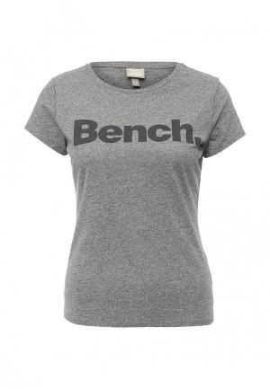 Футболка Bench. Цвет: серый