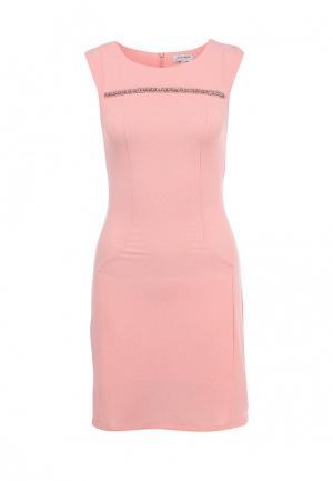Платье Girlondon. Цвет: розовый