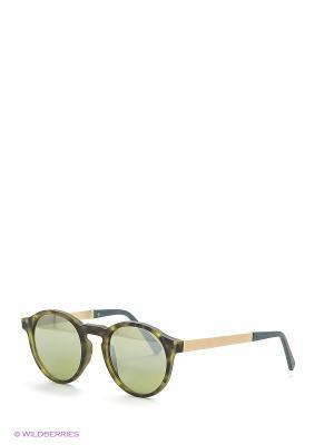 Солнцезащитные очки Franco Sordelli. Цвет: зеленый