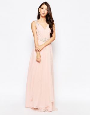 Key Collections Платье макси Ashley Roberts специально для. Цвет: бежевый