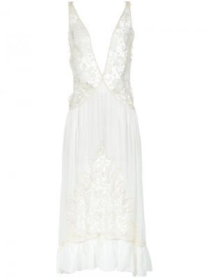 Lace midi gown Martha Medeiros. Цвет: белый