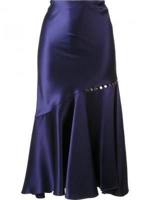 Юбка с оборками Prabal Gurung. Цвет: синий