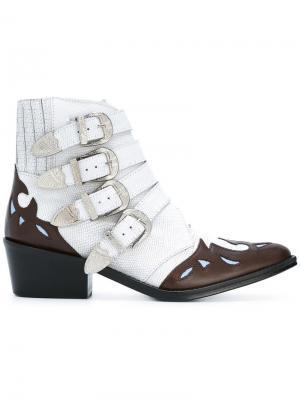 Ботинки с ремешками Toga Pulla. Цвет: белый