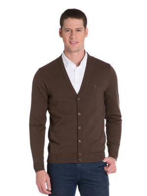 Кардиган U.S. Polo Assn.. Цвет: коричневый