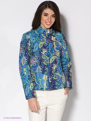 Куртка Baon. Цвет: голубой, желтый
