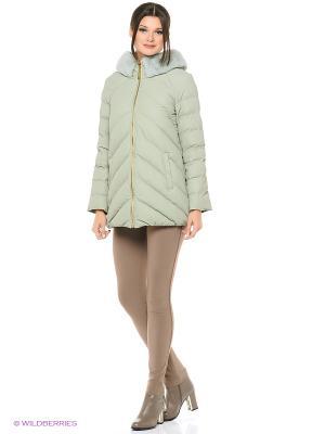 Куртка FREYA. Цвет: оливковый