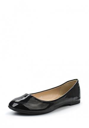 Балетки Style Shoes. Цвет: черный