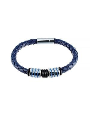 Браслет ELEMENT47 by JV. Цвет: серебристый, синий