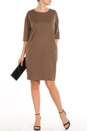Свободное платье с округлым вырезом Piena. Цвет: какао