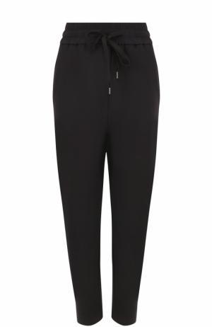 Укороченные брюки с эластичным поясом No. 21. Цвет: черный