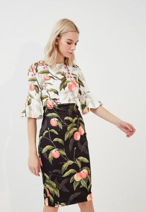 Платье Ted Baker London. Цвет: разноцветный