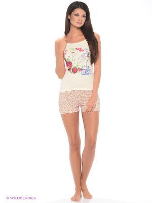 Комплект домашней одежды ( майка, шорты) HomeLike. Цвет: молочный